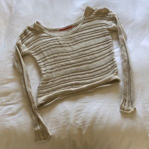 Feel The Piece Loose Knit Neutral Slouchy Sweater